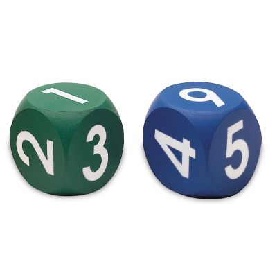 Learning Resources Foam Numeral Dice