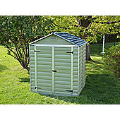 Palram 6x5ft Green Plastic Apex Shed