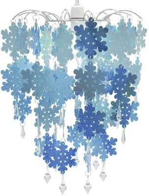 Blue Sparkly Snowflake Chandelier