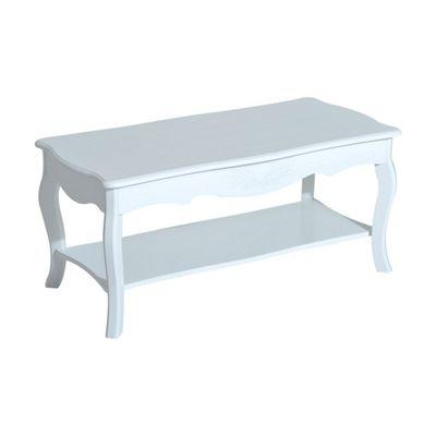 Buy Homcom Coffee Tea Table Wooden Furniture 2 Layer Design W