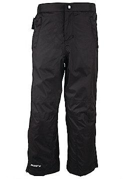 Flood Kids Waterproof Water Rain Lightweight Packable Over Trousers - Black