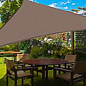 Outsunny Sun Shade Sail UV Resistant Canopy Shade Awning w/ Portable Bag (Triangle 3m, Light Brown)