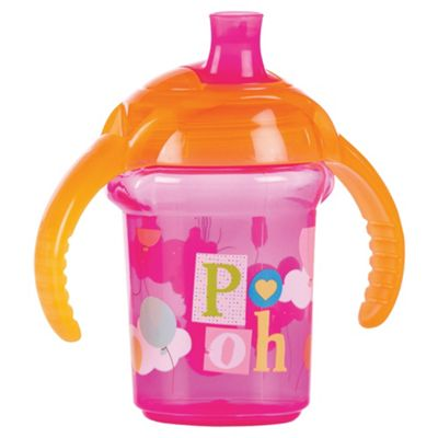 Winnie The Pooh Pink Click Lock Trainer Cup