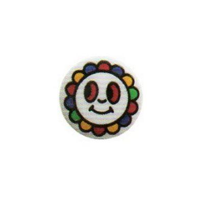 Hemline Smile Flower Buttons 12.5mm 5pk