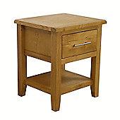 Nebraska - Oak Lamp Table / 1 Drawer With Shelf
