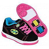 Dual Up Black/Neon Multi Kids Heely X2 Shoe - Black