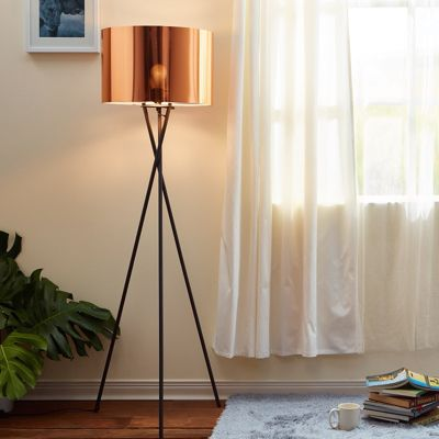 Versanora Tripod Floor Standard Lamp Copper Shade Modern Lighting VN-L00002