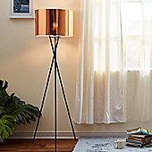 Versanora Tripod Floor Standard Lamp Copper Shade Modern Lighting VN-L00002