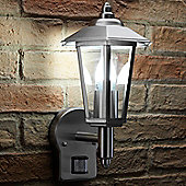 Auraglow Stainless Steel PIR Infrared Motion Sensor Outdoor Vintage LED Wall Light (Cool White)