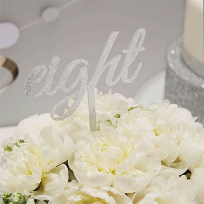 Metallic Perfection Wedding Table Numbers - 21cm