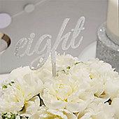 Metallic Perfection Wedding Table Numbers - 21cm