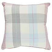 Tesco Pink Check Cushion