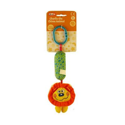 A to Z Yellow Lion Charlie the Chime Animal with Buggy Clip