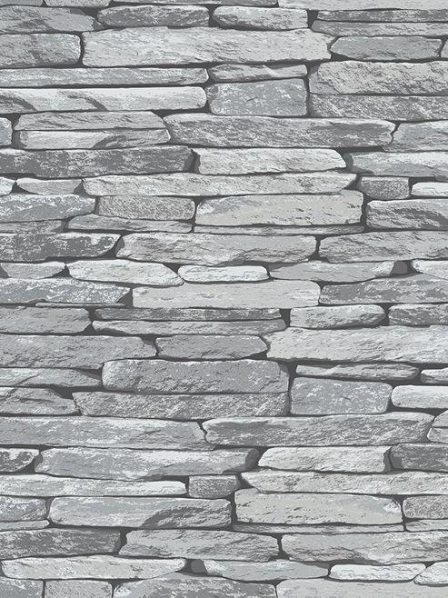 Silver Black Slate Effect Wallpaper - 263144 Windsor Wallcoverings