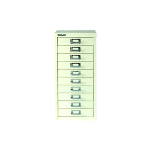 Bisley Multi-Drawer Cabinet 29 inches A4 10 Drawer White