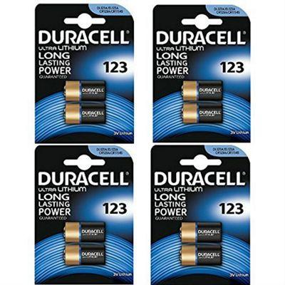 8 x Duracell CR123A CR123 123 3v Lithium Photo Battery