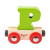 Bigjigs Rail Rail Name Letter P (Green)