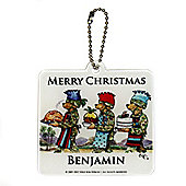 Help for Heroes Personalised Christmas Themed Tree Decoration Square Cook
