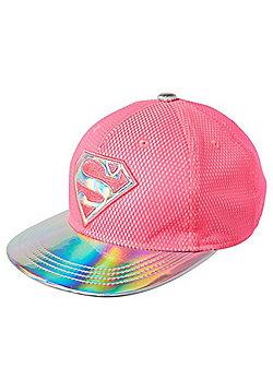 DC Comics Supergirl Holographic Peak Cap - Neon pink