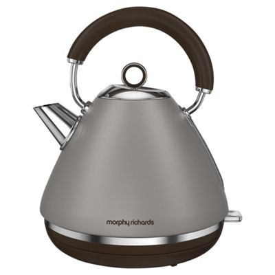 Morphy Richards 102102 Accents Pyramid Kettle, 1.5 L - Pebble