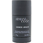 Giorgio Armani Code Deodorant Stick 75g Alcohol Free For Men