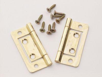 Basic P/P 2426 Flush Hinges Electro Brass 60mm X2