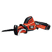 Black and Decker GKC 108 Cordless Reciprocating Saw Branch Clamp 10.8 Volt 1 x 1.3Ah Li-Ion