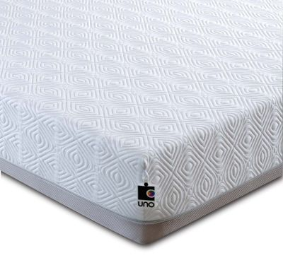 Breasley UNO Pocket 2000 Memory Foam and Pocket Sprung Mattress with Knitted Cover - Single