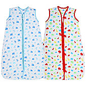 Snoozebag Baby Sleeping Bag - Jungle Fun + Planes & Trains TWIN Pack (2.5 tog, 18-36 months)