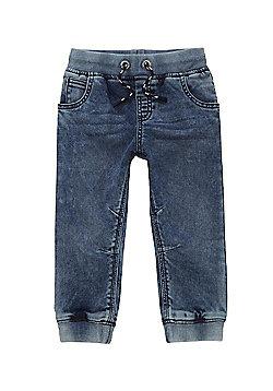 F&F Acid Wash Jogger Jeans - Blue