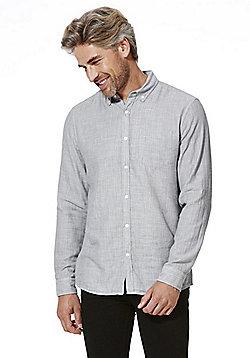 F&F Double Face Inner Stripe Shirt - Grey