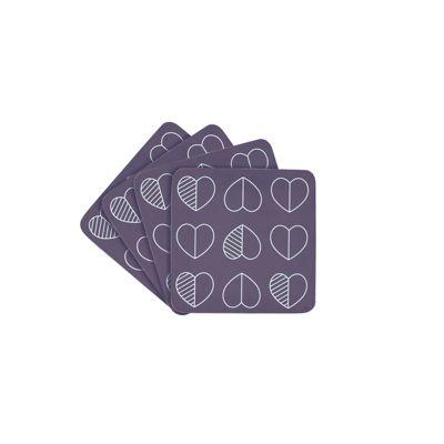 Beau & Elliot Confetti Outline Midnight Blue Coasters, Set of 4