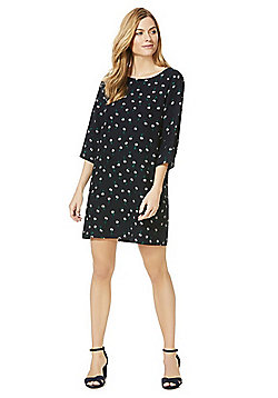 Only Floral Print Shift Dress - Navy