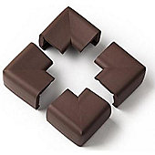 Clevamama Extra Large Corner Cushions Pack of 4 Chocolate
