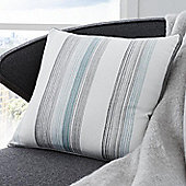 Fusion Rydell Stripe Teal 43x43cm Unfilled Cushion Cover
