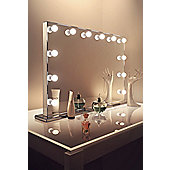 Diamond X Mirror Finish Hollywood Makeup Mirror Warm White Dimmable LED k253WW