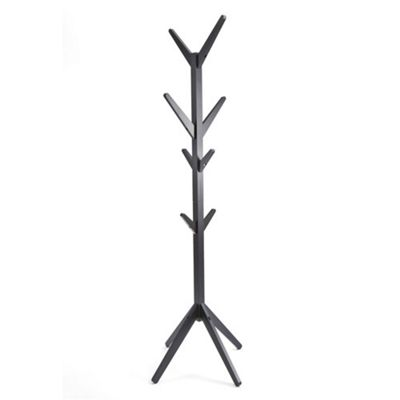 Hampton Wooden Coat Stand - Black