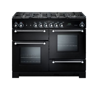 Rangemaster Kitchener KCH110DFFBL/C 110cm Duelfuel Black/Chrome