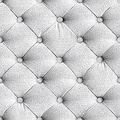 Grey Diamond Chesterfield Linen Headboard Style Wallpaper - J226-19