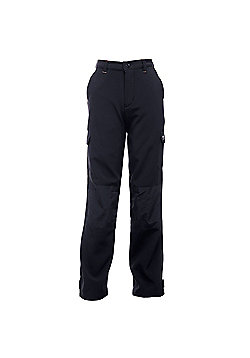 Regatta Kids Winter Softshell Walking Trousers - Black