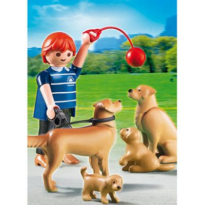 Playmobil City Life Golden Retriever Dogs