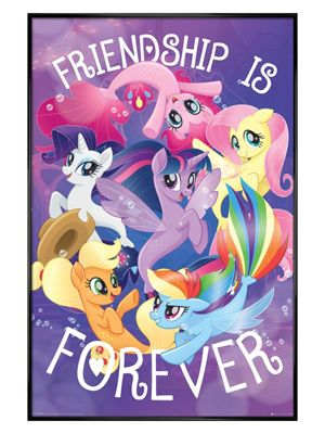 My Little Pony Movie Gloss Black Framed Friendship Is Forever Poster 61 x 91.5cm