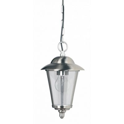 Polished Stainless Steel & Clear Pc 1lt Pendant 0W