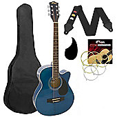 Tiger Small Body Acoustic Guitar Kit - Blue