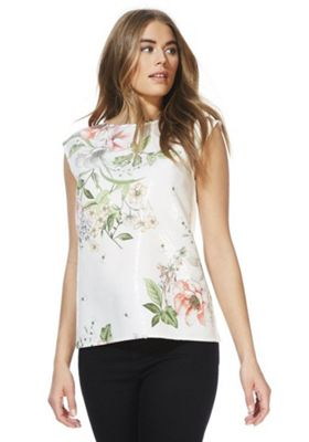 F&F Floral Sequinned Front Top Multi 10