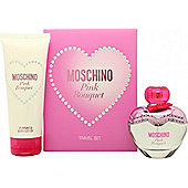 Moschino Pink Bouquet Gift Set 50ml EDT + 100ml Body Lotion For Women