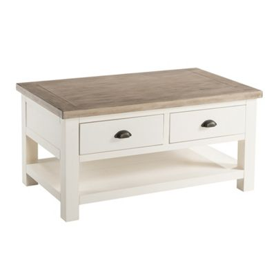 St Ives Painted Coffee Table - Coffee Table - Linen White