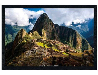 Black Wooden Framed Machu Picchu Poster