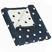 Hippychick Cot Blanket (Navy/Cream Spot)