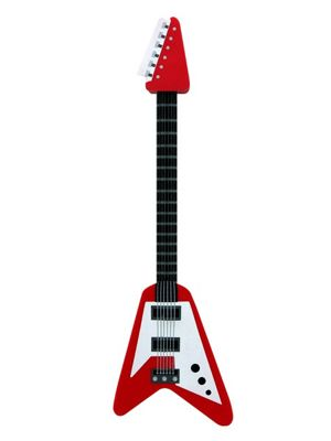 Rock Guitar Pencil & Eraser Set Assorted Colours